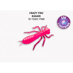 "Личинка Crazy Fish KASARI 1"" 52-27-76-7"