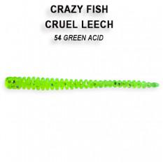 Мягкая приманка Crazy Fish CRUEL LEECH 8-5.5-54-6