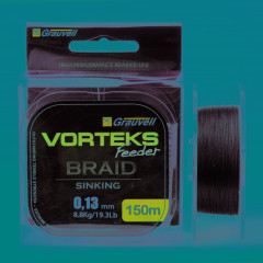 Плетёный шнур VORTEKS FEEDER BRAID 150м 0,08мм