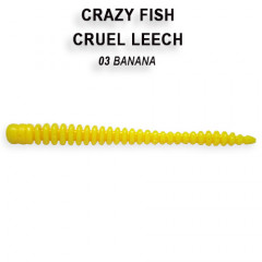 Мягкая приманка Crazy Fish CRUEL LEECH 8-5.5-3-8