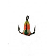 Крючок-тройник для приманок LJ SCANDI с каплей цвет. разм.014/YGR