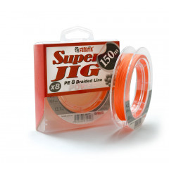 ШНУР плетеный FANATIK Super Jig PE X8 150 m (#1.2) 0.18 mm 12.0 kg ORANGE