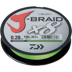 Плетеный шнур Daiwa J-Braid X8 Chartreuse 0.06mm/150m