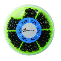 Набор грузил Maestro Soft Lead Shot (0.2-1.2гр)
