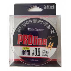 Плетеный шнур Mottomo ProLine PEx4 Dark Green #0.4/4kg 150m