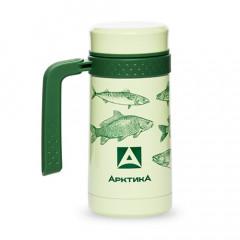 Термос-кружка АРКТИКА с ручкой 412 зеленая 0.5л