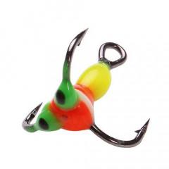 Крючок-тройник для приманок LJ SCANDI с каплей цвет. разм.018/YR