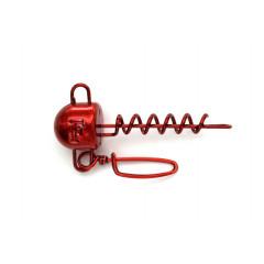 Свинец Fanatik Штопор Две Петли груз с застежкой цвет Red, 9 гр (2 шт в упаковке)
