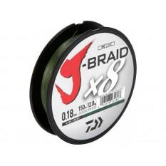 Плетеный шнур Daiwa J-Braid X8 Dark Green 0.10mm/150m