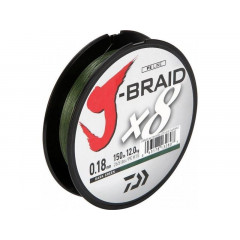 Плетеный шнур Daiwa J-Braid X8 Dark Green 0.06mm/150m