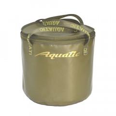 Ведро Aquatic В-04Х для замешивания корма герм. с крышкой (хаки)