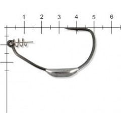 Офсетные крючки Lucky John Predator LJH357, размер 4/0, упаковка 3 шт.