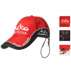 Бейсболка мембранная дышащая Aiko красная с черным