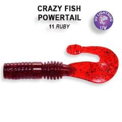 """Силиконовая приманка Crazy Fish Powertail 2.8"""" 4-70-11-4"""