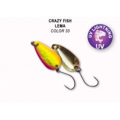 Колеблющаяся блесна Crazy Fish Lema 1.6 г #33