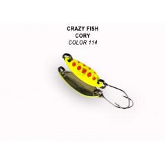 Колеблющаяся блесна Crazy Fish Cory 1.1 г #114