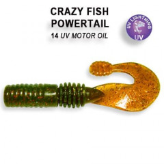 """Силиконовая приманка Crazy Fish Powertail 2.8"""" 4-70-14-6"""