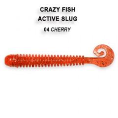 """Силиконовая приманка Crazy Fish Active slug 2.8"""" 2-71-4-1"""