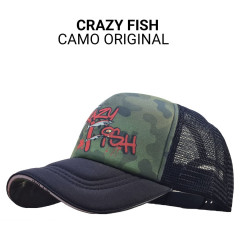 Кепка тракер Crazy Fish Camo Original M