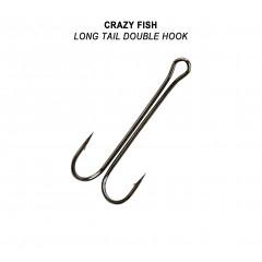 Двойной крючок Crazy Fish Long Tail Double Hook №8 5 шт