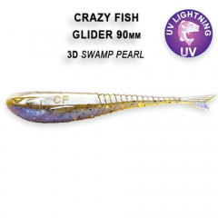 """Силиконовая приманка Crazy Fish Glider 3.5"""" 36-90-3d-6"""