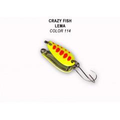 Колеблющаяся блесна Crazy Fish Lema 1.6 г #114