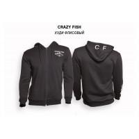 Худи флисовый Crazy Fish Cotton Black