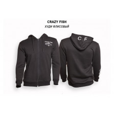 Худи флисовый Crazy Fish Cotton Black - S