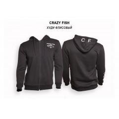 Худи флисовый Crazy Fish Cotton Black - M
