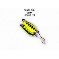 Колеблющаяся блесна Crazy Fish Lema 1.6 г #116