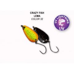 Колеблющаяся блесна Crazy Fish Lema 1.6 г #32