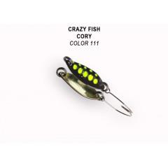 Колеблющаяся блесна Crazy Fish Cory 1.1 г #111