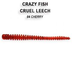 """Силиконовые приманки Crazy Fish Cruel Leech 2.2"""" 8-55-4-6"""