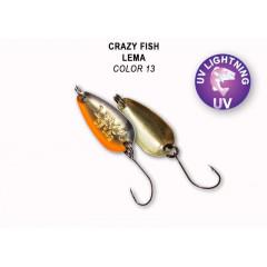 Колеблющаяся блесна Crazy Fish Lema 1.6 г #13