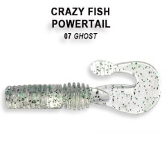 "Силиконовая приманка Crazy Fish Powertail 2.8"" 4-70-7-4"