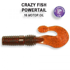 "Силиконовая приманка Crazy Fish Powertail 2.8"" 4-70-10-2"