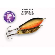 Колеблющаяся блесна Crazy Fish Stitch 6.5гр #13-BGO