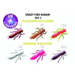 """Силиконовые приманки Crazy Fish Kasari 1.6"""" 51-40-M2-7-FS"""