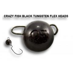 Вольфрамовая чебурашка Crazy Fish 1г цвет чёрный 6шт.