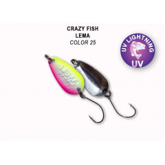 Колеблющаяся блесна Crazy Fish Lema 1.6 г #25
