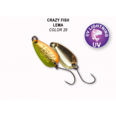 Колеблющаяся блесна Crazy Fish Lema 1.6 г #20