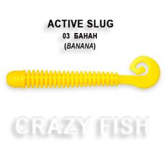 """Силиконовая приманка Crazy Fish Active slug 2.8"""" 2-71-3-2"""