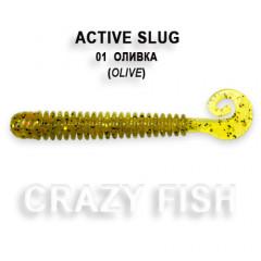 Мягкая приманка Crazy Fish ACTIVE SLUG 2-7.1-1-3