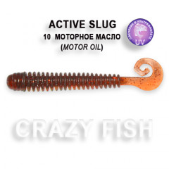 "Силиконовая приманка Crazy Fish Active slug 2.8"" 2-71-10-1"