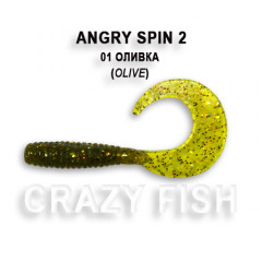 "Твистер Crazy Fish ANGRY SPIN 2"" 21-4.5-1-4"