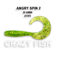 "Твистер Crazy Fish ANGRY SPIN 2"" 21-4.5-20-6"