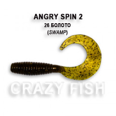 "Твистер Crazy Fish ANGRY SPIN 2"" 21-4.5-26-4"