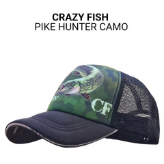 Кепка тракер Crazy Fish Pike Hunter Camo S (kid size)