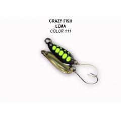 Колеблющаяся блесна Crazy Fish Lema 1.6 г #111
