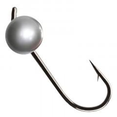 Вольфрамовая джиг-головка Crazy Fish 0,45г цвет серебро 6шт.
